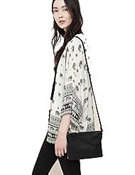Malloom® Mujeres elefante Impreso media manga kimono Cardigan Tops blusa Outwear Chaqueta