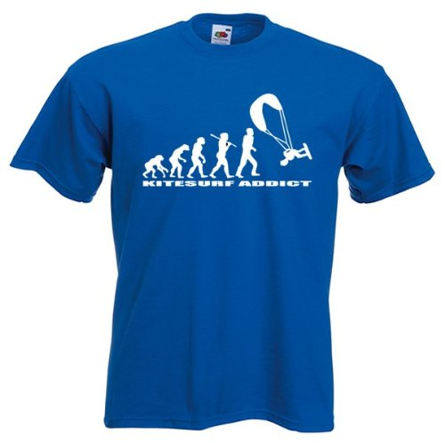 t-shirt Kitesurf Addict- couleur Bleu taille M