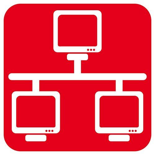 Brennenstuhl Premium-Web-Line, Internet-Steckdosenleiste 4-fach mit Master Slave und LAN-Anschluss (3m Kabel und mit Schalter- in 19″) Farbe: schwarz - 3