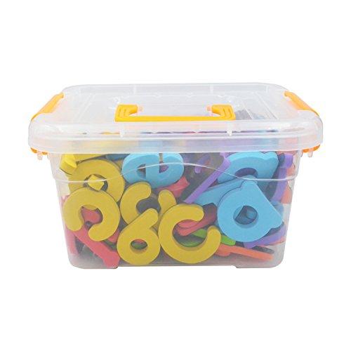 Magnetisches Alphabet Buchstaben & Zahlen Educational Kühlschrank Magnete mit Gelb Griff Box Kühlschrank-magnete Buchstaben