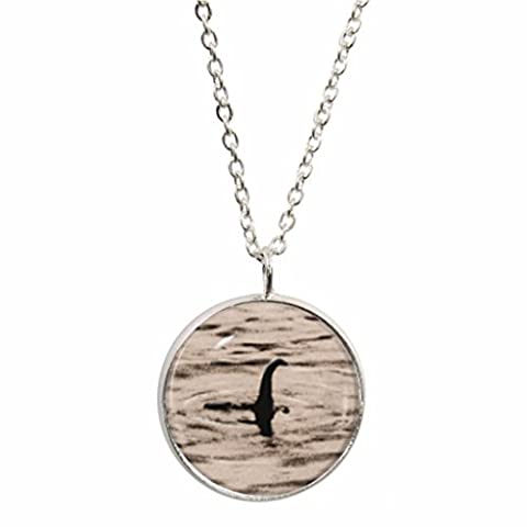 Loch Ness Monster Design Pendant and Silver Plated Necklace