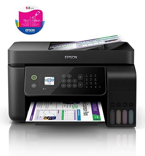 Epson EcoTank ET-4700 4-in-1 Tinten-Multifunktionsgerät (Kopierer, Scanner, Drucker, Fax, DIN A4, ADF, WiFi, Ethernet, Display, USB 2.0, großer Tintentank, hohe Reichweite, niedrige Seitenkosten)