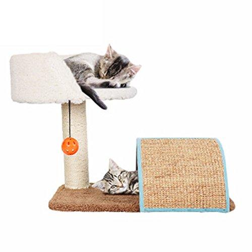 YAOBAO Katze Baum Haus mit Kratzbaum Pad Katze Turm Möbel Spiel Haus Barsch Aktivität Bäume (Baum Barsch Katze)