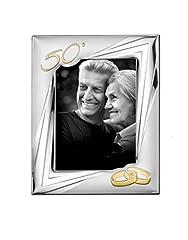 Idea Regalo - Cornice di argento di Primera per nozze d' oro, 50° anniversario).