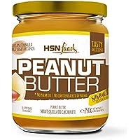 HSN Foods - Mantequilla de Cacahuete con Textura Cremosa y Suave - 100% Natural - Peanut Butter Smooth - Apto Vegetariano - Sin grasa de palma - Sin grasa trans - Sin azúcar ni sal añadidos - 250g