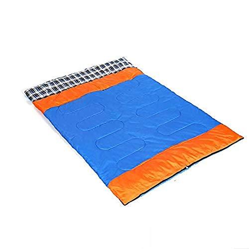 Cloud cake shop Umschlag Schlafmumie Taschen Outdoor Camping Lightweightultra Compact Ultra LightAdult Paar Schlafsack, Orange Fortune Blue 2,8 kg -
