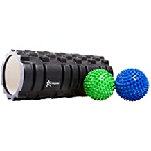 Premium Foam Roller-Trigger Point Muscle Roller by CN Physical - Plus 2 x 3.5inch Spikey Massage Balls - Plus FREE Carry Bag - 60 Day Money Back Guarantee! by CN Physical