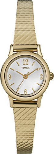 Timex T2P300 – Reloj de pulsera para mujeres, correa de acero inoxidable, color dorado