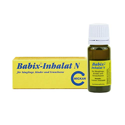 Babix-Inhalat N Spar-Set 3 x 10 ml. Pflanzliches Arzneimittel bei Erkältungskrankheiten der Atemwege. Enthält Eucalyptusöl. Für Säuglinge, Kinder und Erwachsene geeignet
