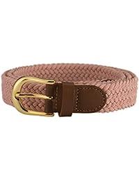 055aa2d5b70f14 Streeze Damen elastischer geflochtener Stretchgürtel. 25 mm Breite gewebt  mit Goldschnalle 5 Größen ...