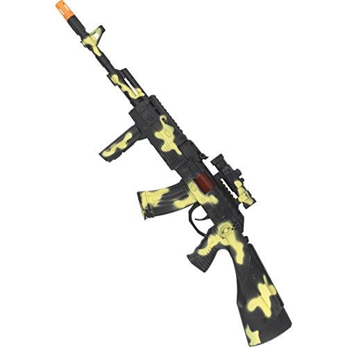Amakando Arme de Jouet de l'armée - avec Son | Fusil Jouet Kalachnikov | Accessoires pour Costumes de Soldat | Arme de Plastique