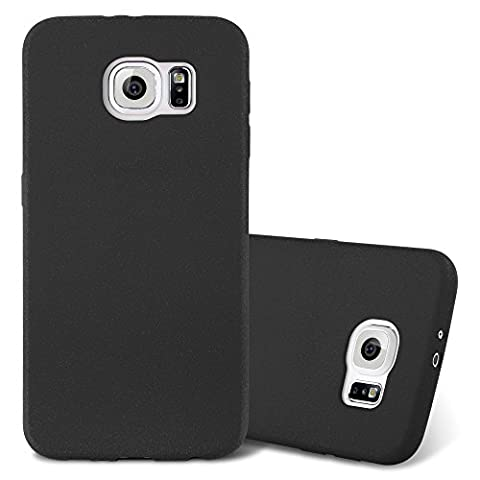 Cadorabo - Ultra Slim TPU Frosted Mate Coque Gel (silicone) pour Samsung Galaxy S6 - Housse Case Cover Bumper en FROST-NOIR