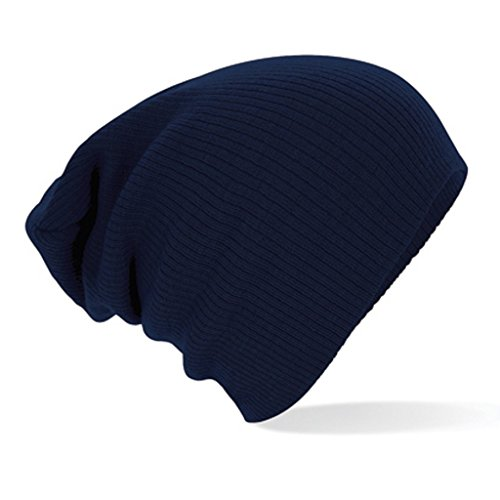 Beechfield - Bonnet souple, Différentes Couleurs - Une taille adapté por tous, bleu marine