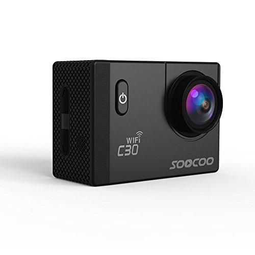 Stoga AC30 Wifi impermeabile di azione della macchina fotografica DV 12MP HD DVR Camcorder con accessori di montaggio Kit / Nero