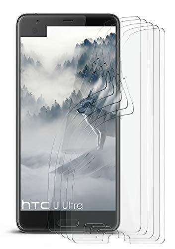 5X HTC U Ultra | Schutzfolie Matt Display Schutz [Anti-Reflex] Screen Protector Fingerprint Handy-Folie Matte Displayschutz-Folie für HTC U Ultra Ocean Note Displayfolie