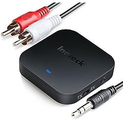 Inateck Trasmettitore e ricevitore Bluetooth per audio, adattatore audio aptX HD, aptX a bassa latenza, low latency, Hi-Fi B per TV e sistema audio automobile, autoradio, BR1006