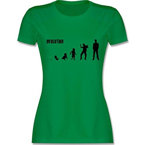 Evolution - Mann Evolution - tailliertes Premium T-Shirt mit  Rundhalsausschnitt für Damen Grün
