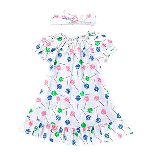 Life Womens Cap Sleeve T-shirt (Winkey Mädchen Rock, Kinder Mädchen Rüschen Lutscher EIS Print Kleid Freizeitkleidung)
