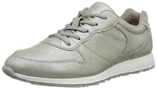 Ecco Damen Sneak Ladies Sneakers, Beige (50258moon Rock-Silver/Moon R/Moon Rock), 39 EU