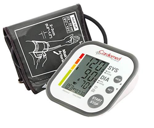 CARDIOMED Misuratore di Pressione da Braccio, Sfigmomanometro da Braccio Pressione Arteriosa Misurazione Automatic 2 x 60 Immagazzinamento Memoria (Display Piccolo)