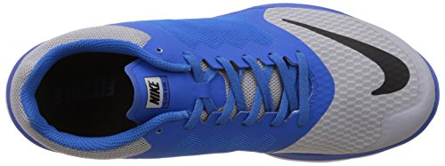 Nike FS Lite Run 3, Chaussures de Running Compétition Homme, Taille Multicolore - Gris / Negro / Azul / Blanco (Wolf Grey/Black-Soar-White)