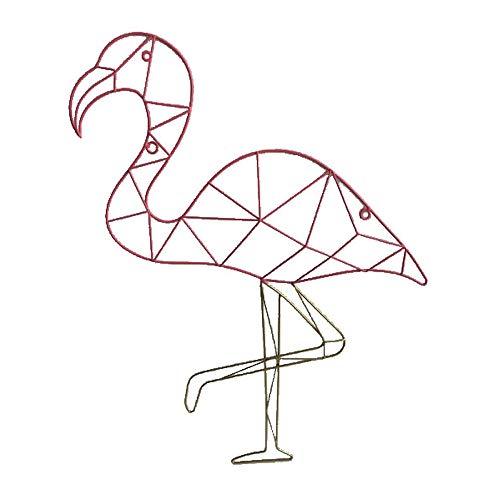 HAB & GUT Bildergalerie CR033- Wand Kartenhalter Flamingo Draht Wandgitter 45 x 60 Collage -