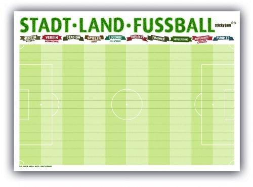 Preisvergleich Produktbild Sticky Jam Tischsets Stadt Land Fußball