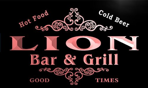 u26616-r-lion-family-name-bar-grill-home-beer-food-neon-sign-enseigne-lumineuse