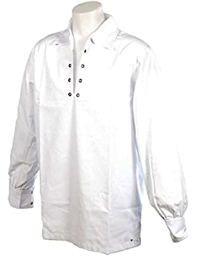 Gents Deluxe Embroidered Scottish Ghillie Shirt In White Size Small