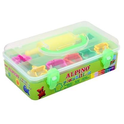 Alpino DP000055 – Kit Caja 7 Plastilina + 7 Moldes + Rodillo