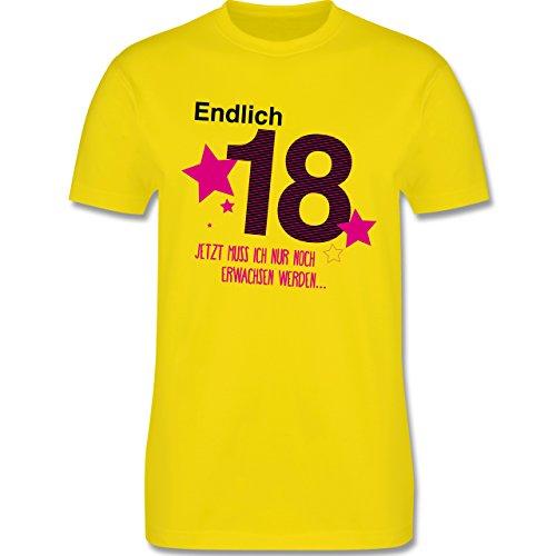 Geburtstag - Endlich 18 - Herren Premium T-Shirt Lemon Gelb