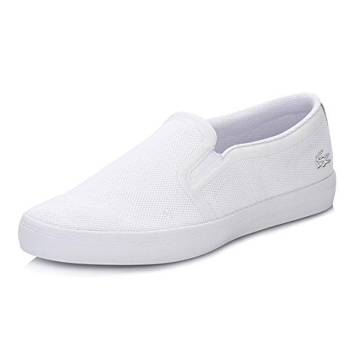 Lacoste Donna Bianco Gazon Slip On Sneaker-UK 8