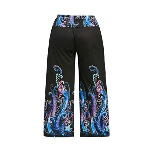 ❤️Internet Women Leggings Casual High Waist Elasticity Octopus Print Wide Leg Palazzo Pants Trousers