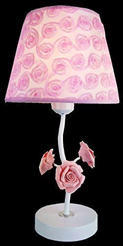ASL Cloth-Geburtstags-Feier-Geschenke Eisen Rose Keramik Tischlampe Kreative Kleine Geschenk-Lampe C
