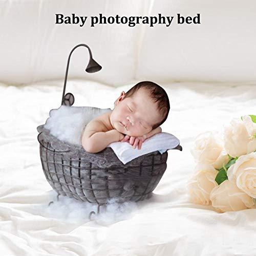 Cama para fotografía de canastilla para bebé recién nacido -...