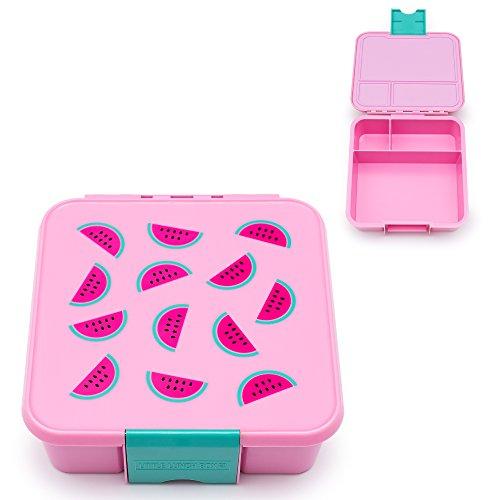 Little Lunch Box Co., Brotdose für Kinder mit Unterteilungen | Bento Box (Bento 3 - Wassermelone)