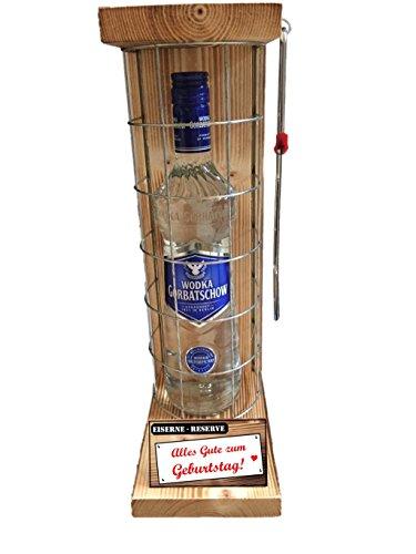 Genial-Anders Vodka Geschenk - Alles Gute zum Geburtstag - Die Eiserne Reserve - Das ausgefallene, originelle, lustige Geschenk, Geburtstagsgeschenk - Männergeschenk - Frauengeschenk