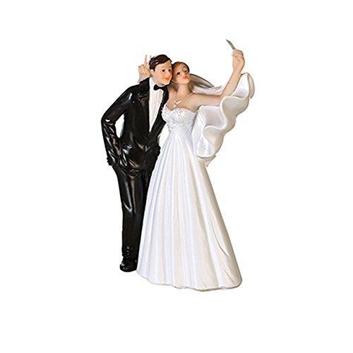 Kuchen-Aufsatz / Torten-Aufsatz Hochzeit Handy Selfie / Cake Topper / Torten-Figur Hochzeit...