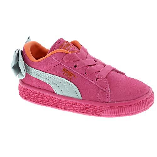 PUMA Baby Mädchen Suede Bow AC INF Sneaker, Violett (Fuchsia Purple-Nasturtium 11), 24 EU