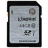 Kingston SD10VG2/64GB Carte SD UHS-I SDHC/SDXC Classe 10 - 64Go