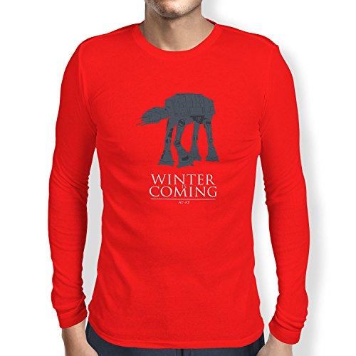 TEXLAB - AT AT Winter Is Coming - Herren Langarm T-Shirt Rot