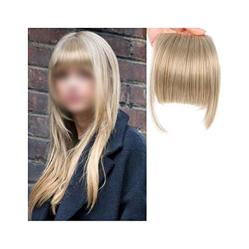 Harla Natural Neat Front Clip in Haar Pony Extensions Clip auf Kunsthaar False Fringe Haarteile # 18 6inches -