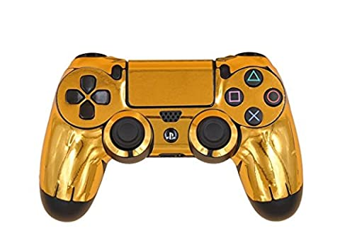 Morbuy PS4 Vinyle Skin autocollant Sticker Decal de Protection pour Sony Playstation 4 PS4 Slim PS4 Pro Dualshock Manette x 1 (Gold Glossy)