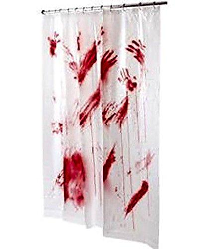 Duschvorhang mit blutigem Design für Halloween, 178 x 183 ()