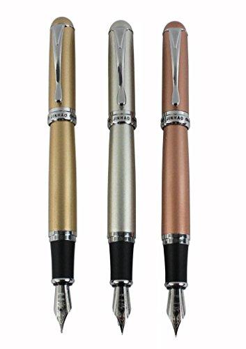 3 Stück jinhao X750 Füllfederhalter mittel 18KGP Nippe in 3 Farben (Gold, Silber, Roségold) mit...
