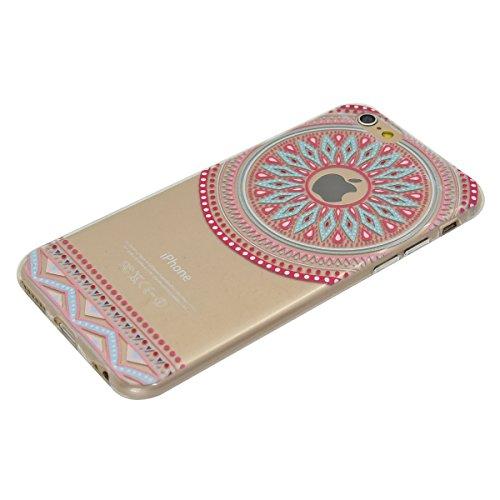 iPhone 6 Plus/6S Plus 5.5 Coque, Voguecase TPU avec Absorption de Choc, Etui Silicone Souple Transparent, Légère / Ajustement Parfait Coque Shell Housse Cover pour Apple iPhone 6 Plus/6S Plus 5.5 (fle cercle pink