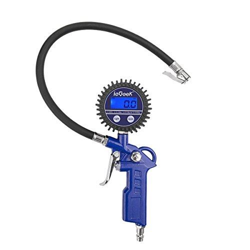 ieGeek Digital Reifendruckmesser Präzision Reifendruck Messgerät, Reifendruckprüfer mit Beleuchtetem Digital Display und 4 Einstellungen für Geländewagen, Transporter, Fahrräder, Motorräder und Auto