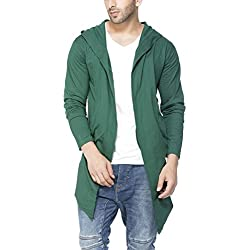Tinted Men's Cotton Sinker Hooded Cardigan