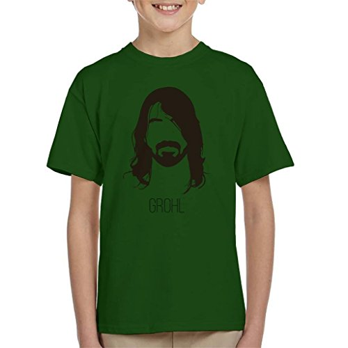 Dave grohl music icon silhouette kid's t-shirt