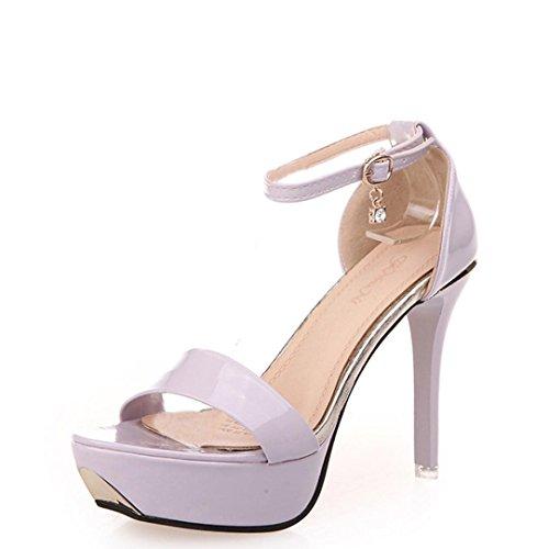 Bescita Neu Sandalen OpenToe High Heels Sandalen Frauen Ankle Strap Sommer  Schuhe Rosa